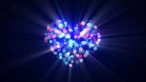 Flashing disco heart shape Stock Images