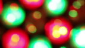 Flashing disco lights bokeh stock video