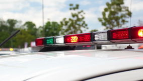 Flashing emergency siren lights o stock video footage