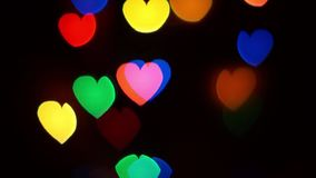 Flashing Hearts Move Up Light Background stock video