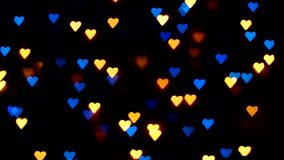 Flashing hearts on Valentines Day stock footage