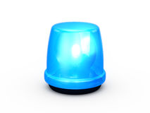 Flashing Light Blue Royalty Free Stock Photos