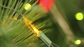 Flashing light garlands. macro. stock footage