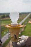 Flashing light on the radio tower. Flashing light on the high radio tower a signal for airplane Stock Photography