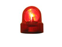 Flashing Light res. This is a flashing red emergency light that is isolated on white Stock Images