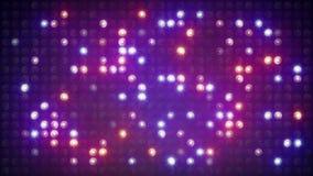 Flashing lightbulbs on disco wall loopable background 4k (4096x2304) stock video footage