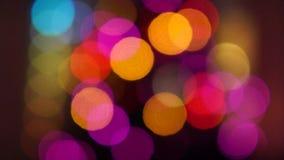Flashing lights of the Christmas tree stock video