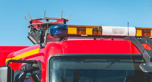 Flashing lights of an extrication vehicle Royalty Free Stock Image