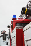 Flashing lights in Fire truck - big red Russian fire fighting vehicle Royalty Free Stock Photos