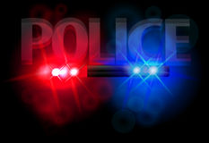 Flashing lights of police Royalty Free Stock Photography