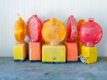 Flashing lights. For road works and construction sites Stock Photography