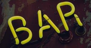 Flashing Neon Bar Sign stock video footage