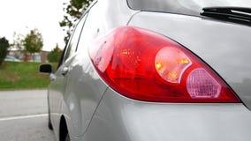 Flashing orange blinker light on rear lamp stock video