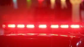 Flashing sirens of police car