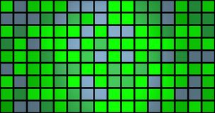 Flashing squares in green and grey colors. In backgrounds stock video