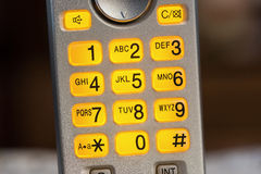 Flashing telephone keypad Stock Photography