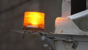 Flashing utility light on a work truck. View of  a flashing utility light on a work truck stock video footage