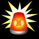 Flashing Warning Light Royalty Free Stock Photos