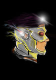 Flashkid. Super hero comic character Royalty Free Stock Photo