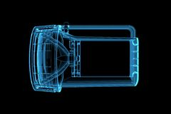 Flashlight 3D X-Ray Blue Royalty Free Stock Photo