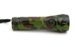 Flashlight. Camouflage flashlight isolated on white Royalty Free Stock Photo
