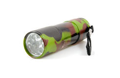 Flashlight in army outfit Royalty Free Stock Photos