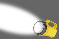 Flashlight with Beam - Room for Text Royalty Free Stock Photo