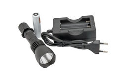 Flashlight and charge device Stock Images