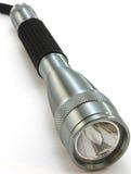 Flashlight, chrome on white background Royalty Free Stock Image