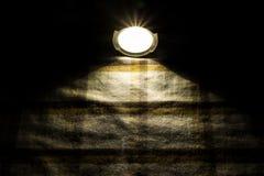 Flashlight on fabric Royalty Free Stock Images