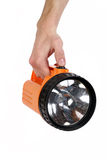 Flashlight in hand Royalty Free Stock Photos