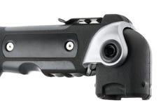 Flashlight handle. Isolated on white background Stock Image