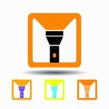 Flashlight icon. isolated on white background Royalty Free Stock Photos