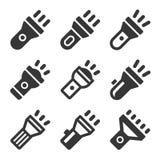 Flashlight Icons Set. Vector Stock Photos