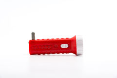 Flashlight isolated. Isolate flashlight. /  flashlight on the white background. / red flashlight Royalty Free Stock Photos