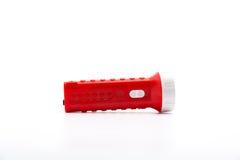 Flashlight isolated. Isolate flashlight. /  flashlight on the white background. / red flashlight Stock Photo