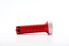 Flashlight isolated. Isolate flashlight. /  flashlight on the white background. / red flashlight Stock Image