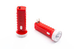 Flashlight isolated. Isolate flashlight. /  flashlight on the white background. / two red flashlight Stock Images