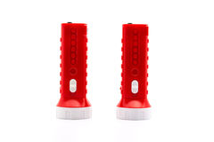 Flashlight isolated. Isolate flashlight. /  flashlight on the white background. / two red flashlight Royalty Free Stock Photos