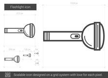 Flashlight line icon. Royalty Free Stock Photos
