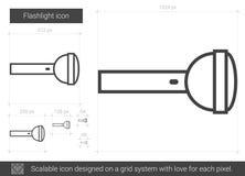 Flashlight line icon. Stock Photos