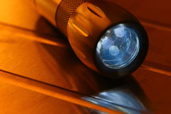 Flashlight on Metal Background Royalty Free Stock Image