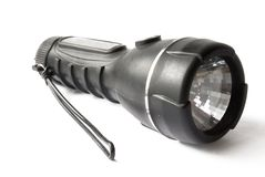 Flashlight over white background Royalty Free Stock Images