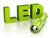 Flashlight - portable LED light Stock Photography
