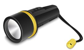 Flashlight with small strap. Vector illustration stock images