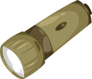 Flashlight soldier vector Stock Image