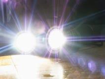 Flashlight for spearfishing shining on camera stock photography