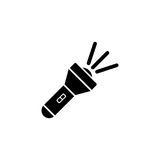 Flashlight vector icon Royalty Free Stock Photography