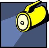Flashlight vector illustration Royalty Free Stock Photography