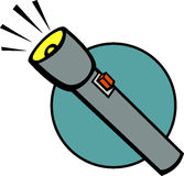 Flashlight vector illustration Royalty Free Stock Image